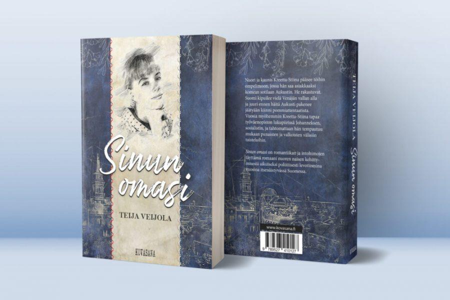Kirjan kannet ja taitto, Veijola: SinunOmasi / Kovasana