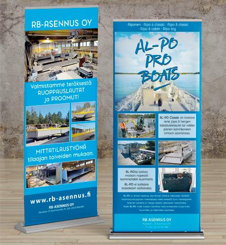 Roll-up, esitelty AL-PO veneitä